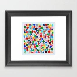 Polka Daub Pebbles Framed Art Print