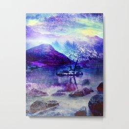 Abstract Winter Lake Metal Print
