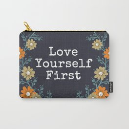 Love Yourself First Quote Carry-All Pouch