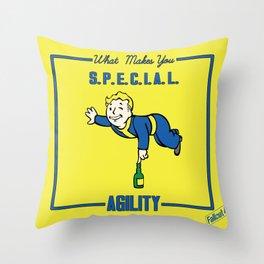 Agility S.P.E.C.I.A.L. Fallout 4 Throw Pillow