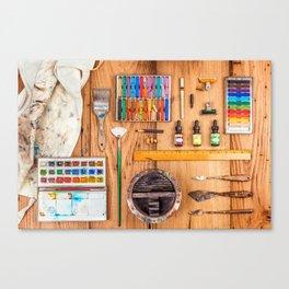The Artist's Tools Canvas Print