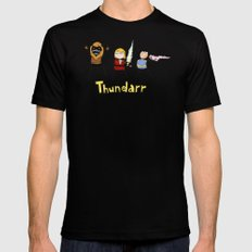 Thundarr the Barbaraian 2X-LARGE Black Mens Fitted Tee