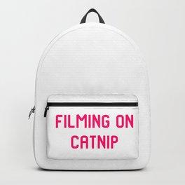 Filming on Catnip Pet Stunt Coordinator Quote Backpack