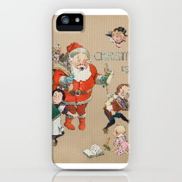 It's All Started With a CrossStitch: Pixelated Pissed Off Santa Claus iPhone Case