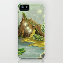 Fairy Lights Mossy Landscape iPhone Case