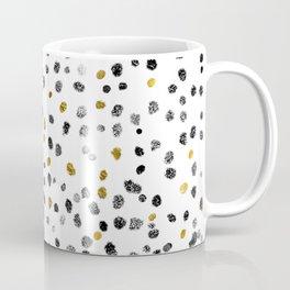 Dots Gold Black and White Coffee Mug