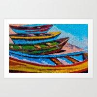 boats Art Prints featuring Boats by Sartoris ART