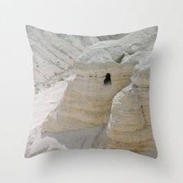 Qumran and the Dead Sea Scrolls - Holy Land Fine Art Film Photography Throw Pillow