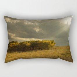 Sunset on China Berry Trees Rectangular Pillow