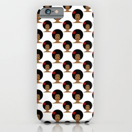 I love my afro hair iPhone Case