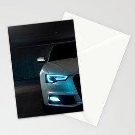 Sports Car Headlight Stationery Cards