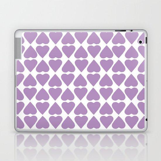 Diamond Hearts Repeat O Laptop & iPad Skin