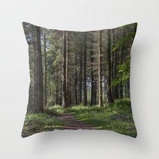 Spruce Woodland Path Throw Pillow