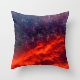 Space clouds Throw Pillow