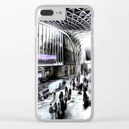 Kings Cross Station London Art Clear iPhone Case
