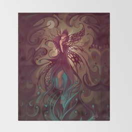 Embrace the night Throw Blanket