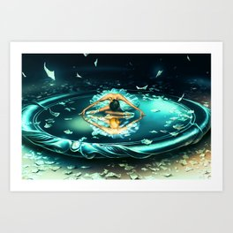 GEMINI from the Dancing Zodiac Art Print