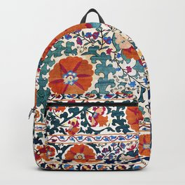 Shakhrisyabz Suzani Uzbekistan Antique Rug Backpack