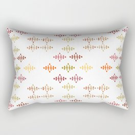 Warm Wedge Diamonds Rectangular Pillow