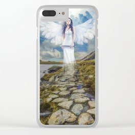 Angels Protection Clear iPhone Case