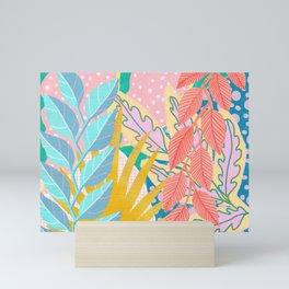 Modern Jungle Plants - Bright Pastels Mini Art Print