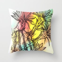 Plant Series: Desert Cactus Throw Pillow