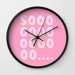 'Sooo...' Bubble gum Letters Wall Clock