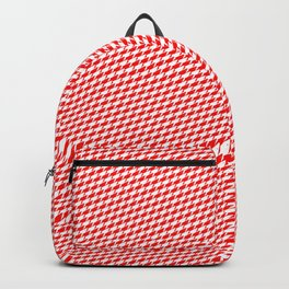 Baby Sharkstooth Sharks Pattern Repeat in White and Red Backpack
