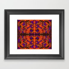 SUNSET MIROR TILE Framed Art Print