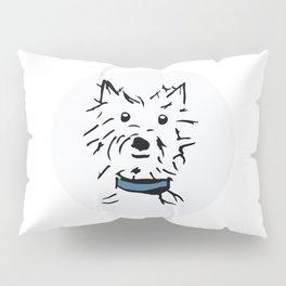 Little Scottie with Blue Collar Pillow Sham