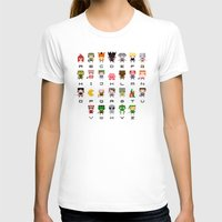 video games T-shirts featuring Video Games Pixel Alphabet by PixelPower