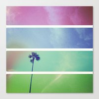 palm tree Canvas Prints featuring Palm Tree by Whitney Retter