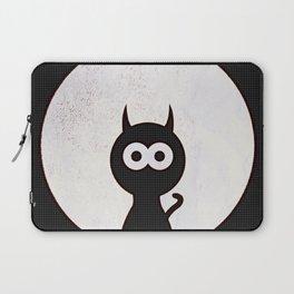 Space Cat - Black White Pop-Art Laptop Sleeve