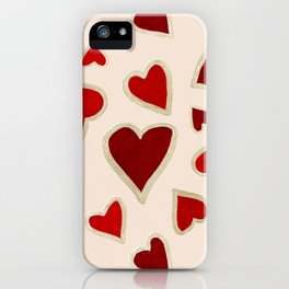 Ditsy dark hearts for lovers iPhone Case