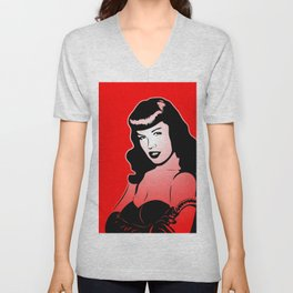 Bettie - Pin-up - Pop Art Unisex V-Neck