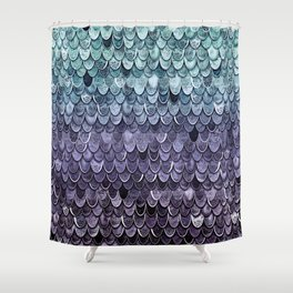 MAGIC MERMAID - MYSTIC TEAL-PURPLE Shower Curtain