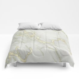 Marble Love Gold Metallic Comforters