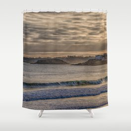 Sunbeams at Cape Hedge Beach Shower Curtain