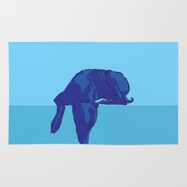 Blue/Grey hound Rug
