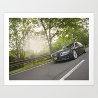 audi Art Prints featuring AfterFX Customs Audi A8 by Alexandre1983 Photography
