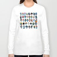 talking heads Long Sleeve T-shirts featuring Heads by Alvaro Tapia Hidalgo