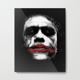 The Joker - Movie Inspired Art Metal Print