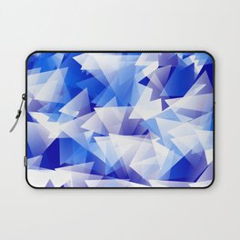 triangles in shades of blue Laptop Sleeve
