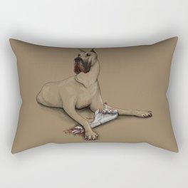 A Dog with a Bone Rectangular Pillow