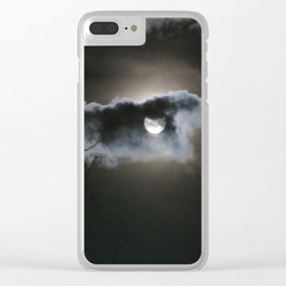 """Full Moon"" Clear iPhone Case"