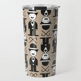 Charlie Chaplin Pattern Travel Mug