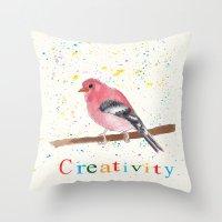 creativity Throw Pillows featuring Creativity by Tammy Kushnir