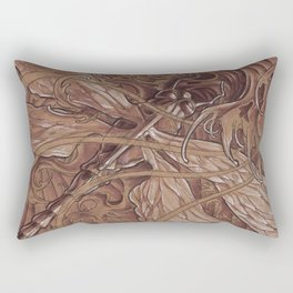 These waves look a little rough Rectangular Pillow