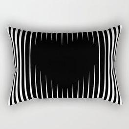 Heart optical illusion art #society6 #decor #buyart #artprint Rectangular Pillow