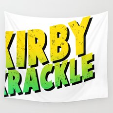 Kirby Krackle - Yellow/Green Logo Wall Tapestry